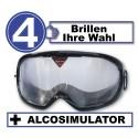 Pack de 4 gafas de simulación con Alcosimulator