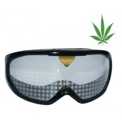 Gafas de simulación del Cannabis y haschish