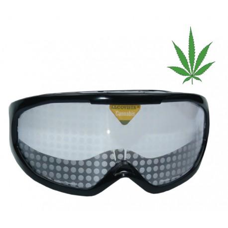 Occhiali simulazione di cannabis