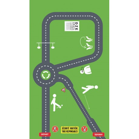 """Parcours """"Romberg test"""" 3,50 x 2,00 m"""