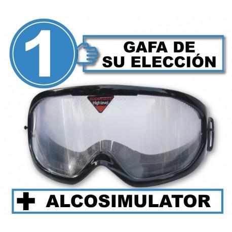 Pack with 1 alcohol simulation  goggle + Alcosimulator