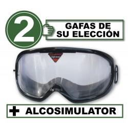 Pack de 2 gafas de simulación + Alcosimulator