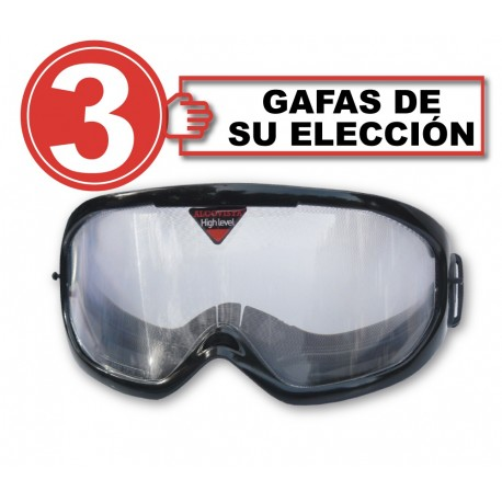 Pack with 3 simaultion glasses