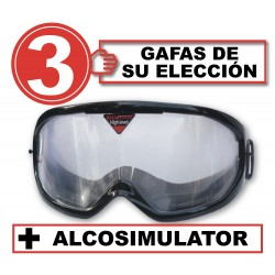 Pack with 3 simulation glasses + Alcosimulator