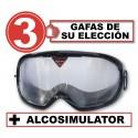 Pack de 3 gafas de simulación con Alcosimulator