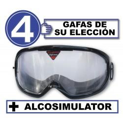 Pack 4 occhiali +  Alcosimulator