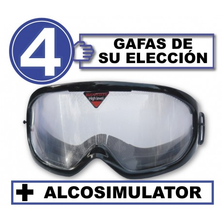 Pack de 4 gafas con Alcosimulator