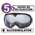 Pack de 5 gafas de simulación + Alcosimulator