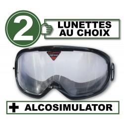 Pack with 2 impairment goggles + Alcosimulator