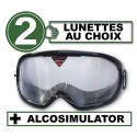 Pack with 2 impairment goggles + Alcosimulator