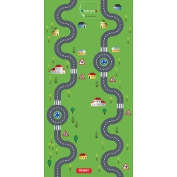 Customizable challenge activity mat for educational workshops 2,00 m x 4,00m