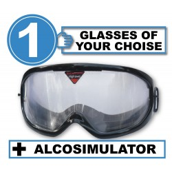 Pack of 1 impairment Goggle - any 1 goggles of choise +Alcosimulator-BAC curve