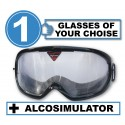 Alcovista 1-Pack of Goggle - any 1 goggles of choise +Alcosimulator-BAC curve