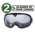 Pack of 2 impairment Goggles - any 2 goggles of choise