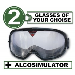 Case with 2 simualtion goggles + Alcosimulator