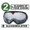 Pack of 2 impairment Goggles - any 2 goggles of choise + Alcosimulator-BAC-curve