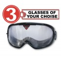 Pack of 3 impairment Goggles - any 3 goggles of choise