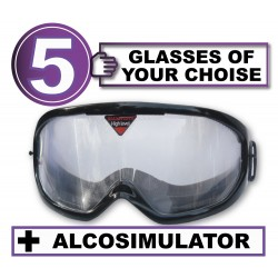 Pack of 5 impairment Goggles - any 5 goggles of choise+Alcosimulator-BAC curve