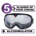 Alcovista 5-Pack of Goggle - any 5 goggles of choise+Alcosimulator-BAC curve