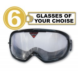 Pack of 6 impairment Goggles - any 6 goggles of choise
