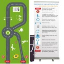 "Customizable challenge activity mat ""Romberg test"" 3,50 m x 1,50 m + Roll-up"
