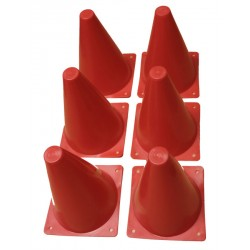 Set of 6 cones of 18 cm each
