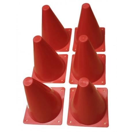 Lot de 6 cônes de 18 cm