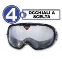 Pack with 4 impairment goggles