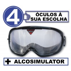 Pack with 4 drunk glasses + Alcosimulator